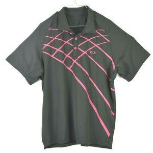 Other - Oakley Regular Fit Mens XL Black Pink Stripes Golf
